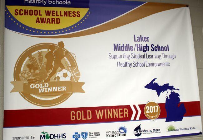School Wellness Award banner