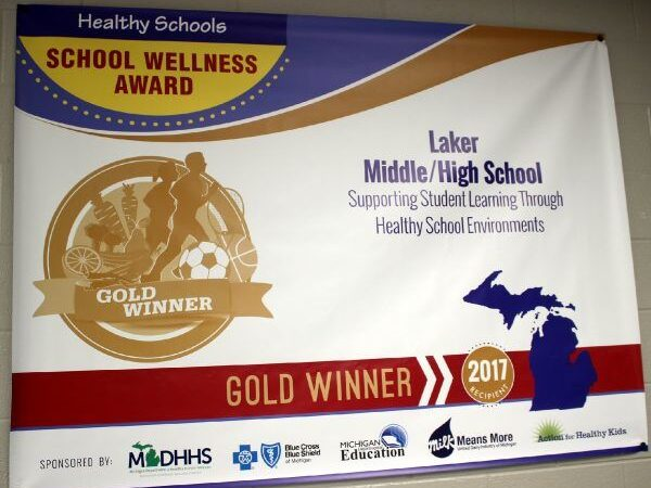 School Wellness Award banner