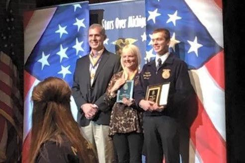 Jake Bushey at FFA state convention