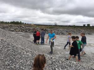 2nd gr trip to Wallace Stone Quarry
