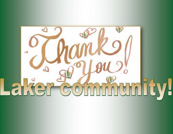 thank you Laker community