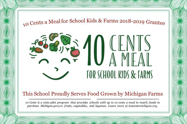 10 cent school meal kids and framers