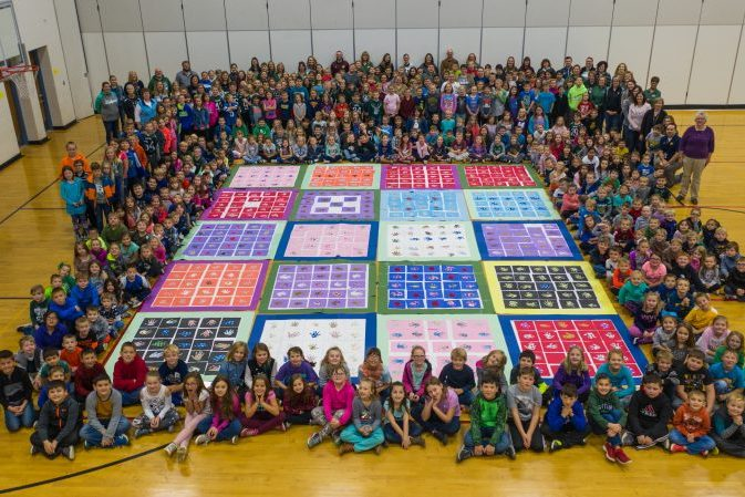 Laker Elementary paper quilt