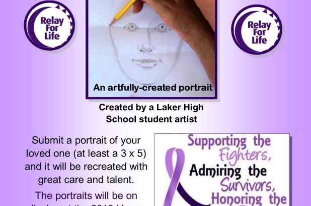 relay for life portraits flyer