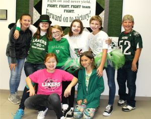 junior high green and white