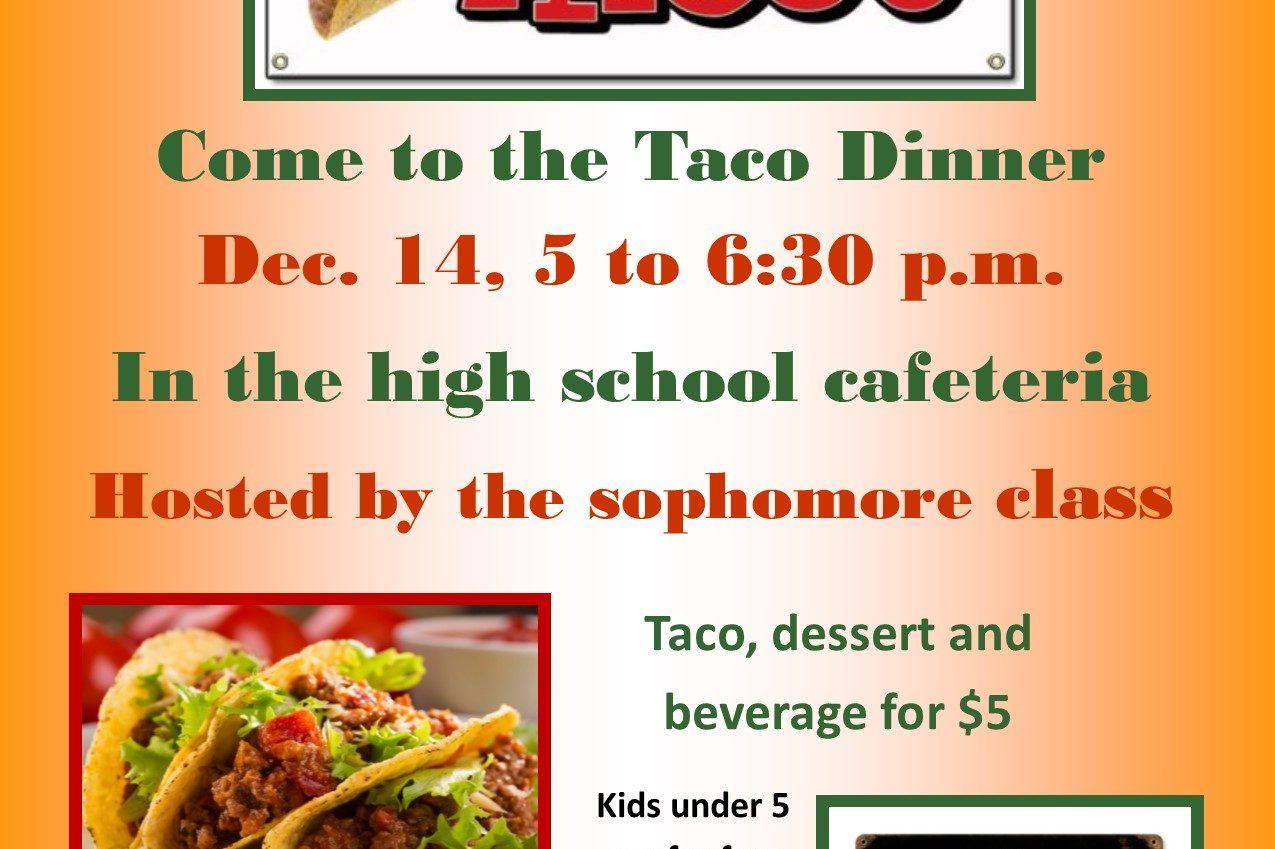 taco dinner flyer