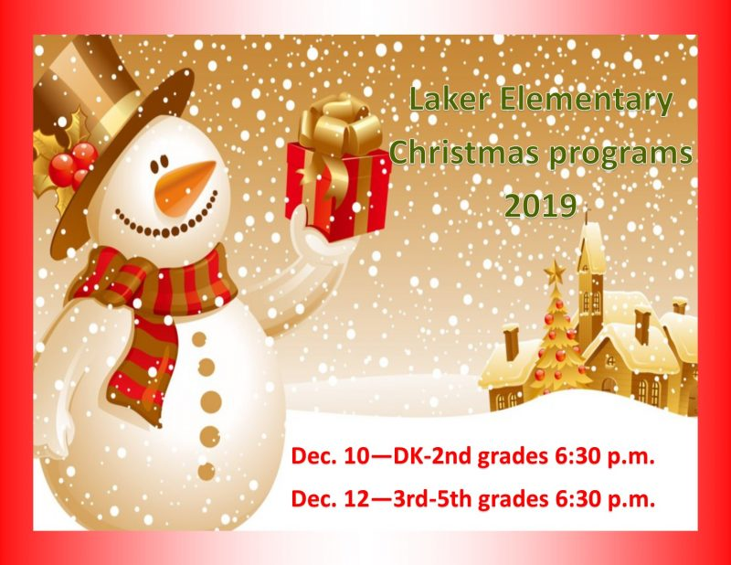 elem Christmas programs