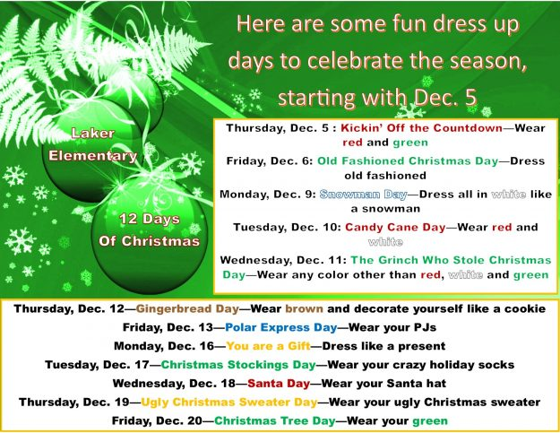 Xmas dress up days