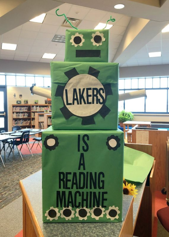 march is reading month robot