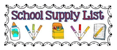 Elementary school supply lists 2020-21 - Laker School District ...