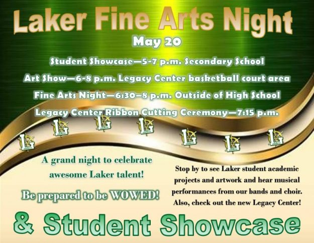 student showcase fine arts night