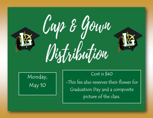 cap and gown distribute